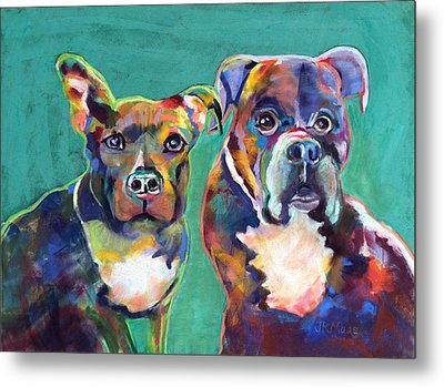 Metal Print featuring the pastel Colorful Characters by Julie Maas