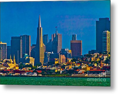 Colorful City By The Bay Metal Print by Mitch Shindelbower
