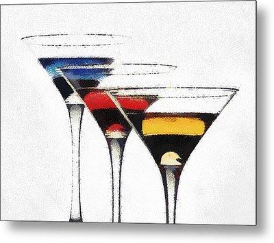 Colorful Cocktails Metal Print