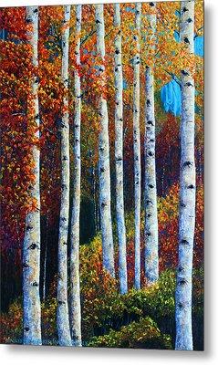 Colorful Colordo Aspens Metal Print by Jennifer Godshalk