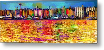 Colorful Coney Island Metal Print