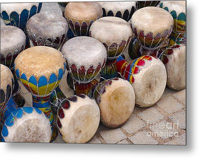 Colorful Congas Metal Print by Carlos Caetano