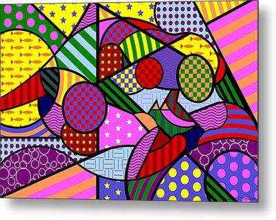 Colorful Couple 1 V-1 Metal Print