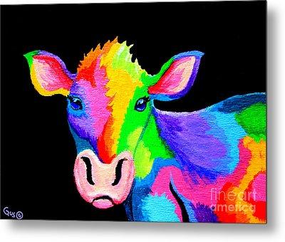 Colorful Cow-cow-a-bunga Metal Print by Nick Gustafson