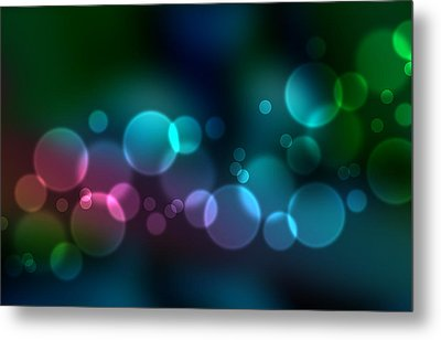 Colorful Defocused Lights Metal Print by Aged Pixel