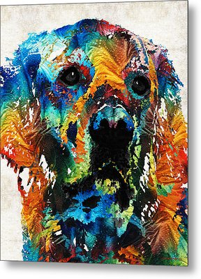 Colorful Dog Art - Heart And Soul - By Sharon Cummings Metal Print