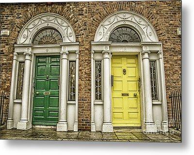 Colorful Doors In Dublin Metal Print