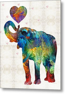 Colorful Elephant Art - Elovephant - By Sharon Cummings Metal Print