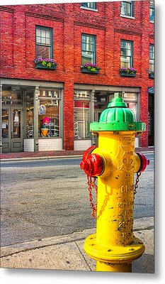 Colorful Fire Hydrant On The Streets Of Asheville Metal Print by Mark E Tisdale