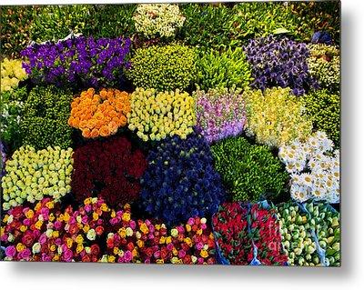 Colorful Flowers Background Metal Print by Michal Bednarek
