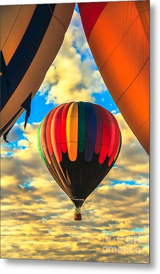 Colorful Framed Hot Air Balloon Metal Print