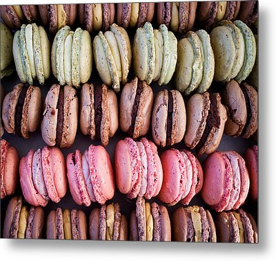 Colorful French Macarons Metal Print