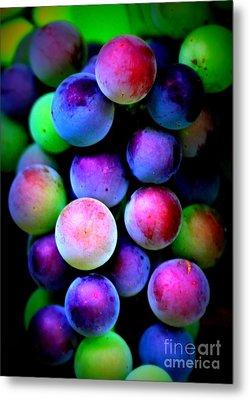 Colorful Grapes - Digital Art Metal Print by Carol Groenen