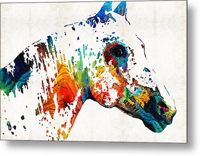 Colorful Horse Art - Wild Paint - By Sharon Cummings Metal Print by Sharon Cummings