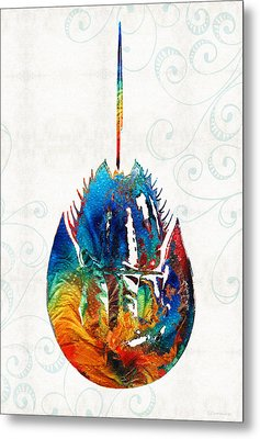 Colorful Horseshoe Crab Art By Sharon Cummings Metal Print by Sharon Cummings