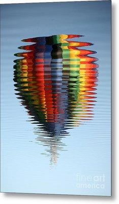 Colorful Hot Air Balloon Ripples Metal Print by Carol Groenen
