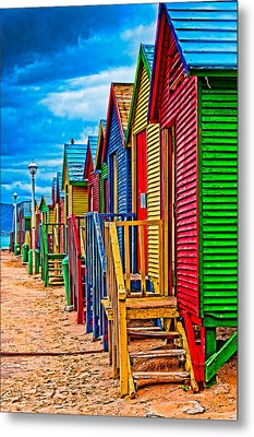 Colorful Houses At St James Metal Print by Cliff C Morris Jr