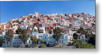 Colorful Houses At The District San Metal Print by Panoramic Images