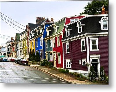 Colorful Houses In Newfoundland Metal Print by Elena Elisseeva