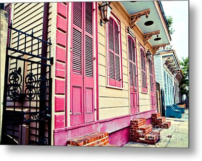 Metal Print featuring the photograph Colorful Houses by Sylvia Cook