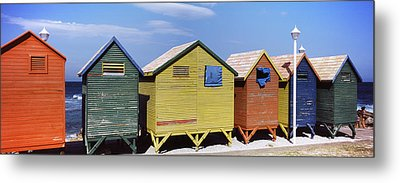 Colorful Huts On The Beach, St. James Metal Print