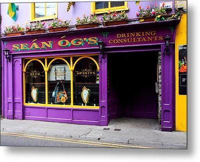 Colorful Irish Pub Metal Print