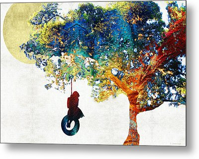 Colorful Landscape Art - The Dreaming Tree - By Sharon Cummings Metal Print