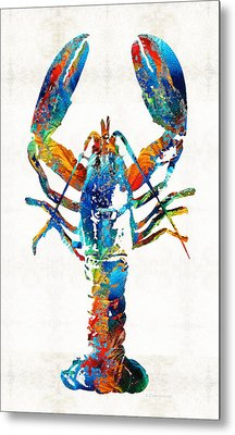 Colorful Lobster Art By Sharon Cummings Metal Print