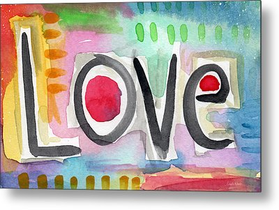 Colorful Love- Painting Metal Print