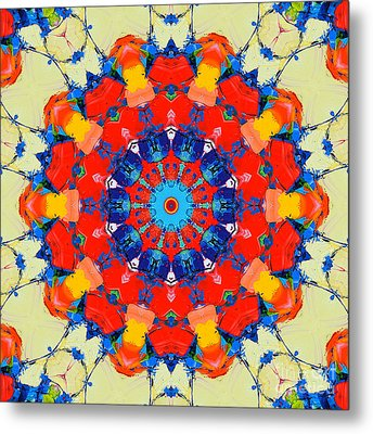 Colorful Mandala Metal Print by Ana Maria Edulescu