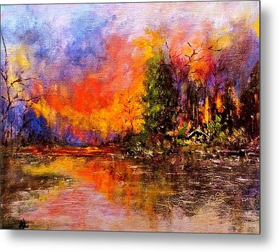 Colorful Night.. Metal Print by Cristina Mihailescu