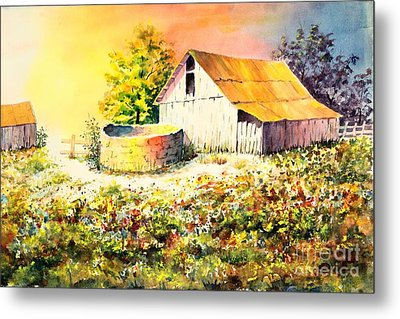 Colorful Old Barn Metal Print
