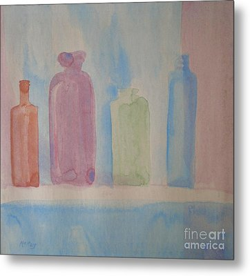 Metal Print featuring the painting Colorful Old Friends by Suzanne McKay