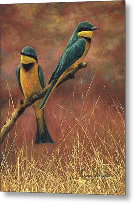 Colorful Pair Metal Print by Lucie Bilodeau
