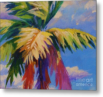 Colorful Palm Metal Print by John Clark