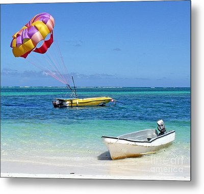 Colorful Parachute - Waiting To Parasail Metal Print