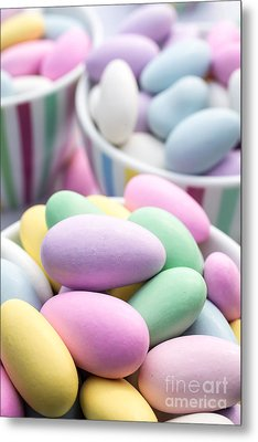 Colorful Pastel Jordan Almond Candy Metal Print by Edward Fielding