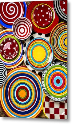 Colorful Plates Metal Print by Garry Gay