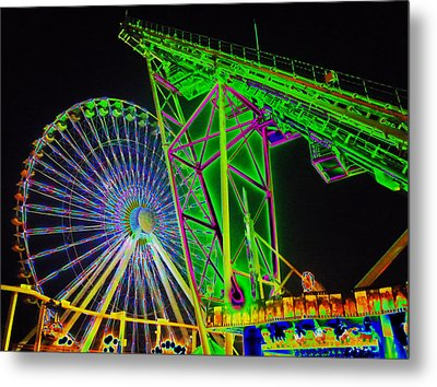 Colorful Rides Metal Print by Thomas  MacPherson Jr