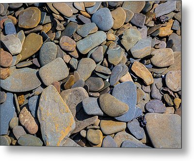 Colorful River Rocks Metal Print by Photographic Arts And Design Studio