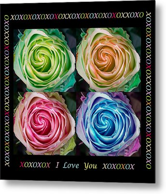 Colorful Rose Spirals With Love Metal Print by James BO  Insogna
