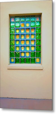 Colorful Savannah Window Metal Print by Gary Slawsky