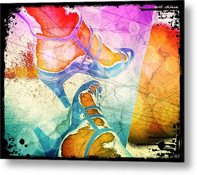 Colorful Shoes Metal Print