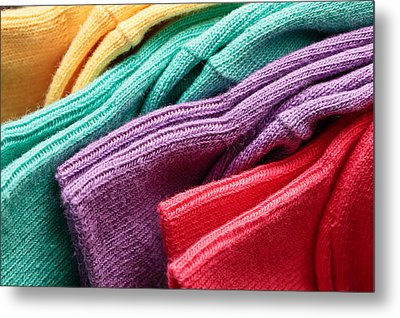Colorful Socks Metal Print