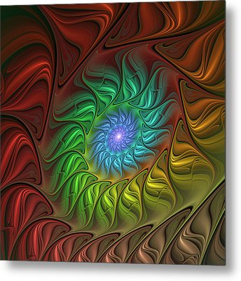 Colorful Spiral Metal Print by Gabiw Art