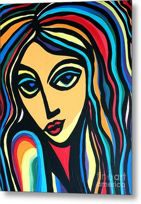 Colorful Stare Metal Print by Cynthia Snyder
