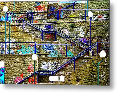 Colorful Steps Metal Print