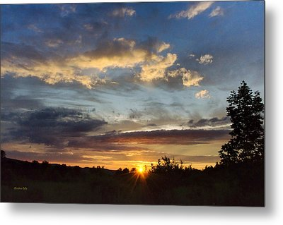Colorful Sunset Landscape Metal Print by Christina Rollo