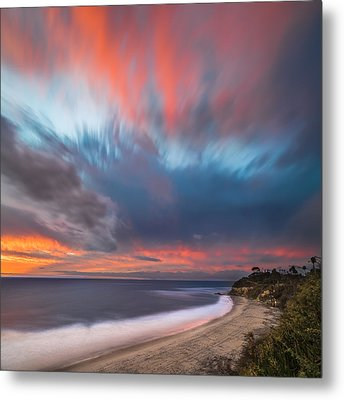Colorful Swamis Sunset - Square Metal Print by Larry Marshall
