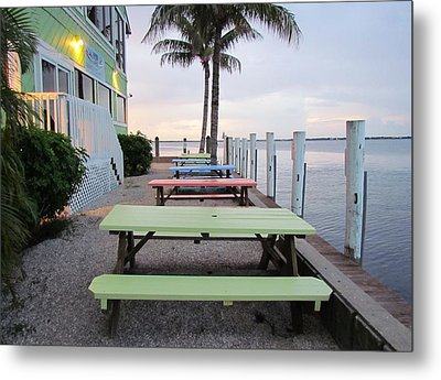 Metal Print featuring the photograph Colorful Tables by Cynthia Guinn